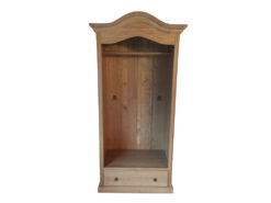 Large Vintage Wardrobe, Solid Wood, Drawer