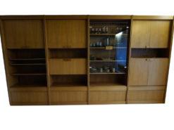 Living Room Cabinet, Solid Wood, Midcentry, Vintage
