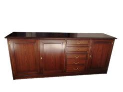 Wall Unit And Matching Sideboard, Solid Mahogany Wood, Vintage