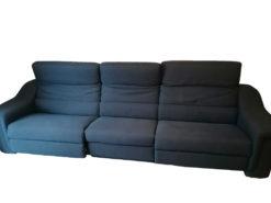 Pacific Blue Himola Sofa, System Straubing, Eletricallly Adjustable