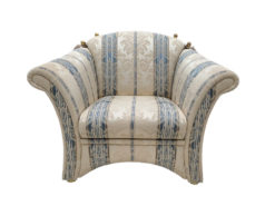 High-Quality Sofa Suite, English Country Style, Striped Pattern, Vintage