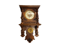Antique Wall Clock With Winding, Solid Wood, Fully Functional