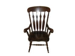 Antique Rocking Chair, Dark Solid Wood