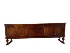 Vintage Sideboard, Made Of Dark Solid Wood