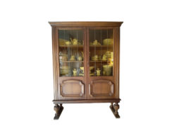 Vintage Display Cabinet, Made Of Solid Wood