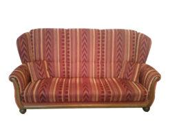 Sofa Suite: 3-Seater, 2 Armchairs, Ottoman, Oak Wood