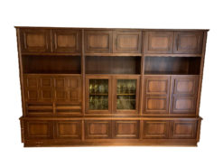 Living Room Cabinet With Secretary, Solid Wood