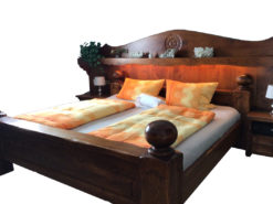 Large Double Bed, 200cm x 200cm, Made of Solid Wood