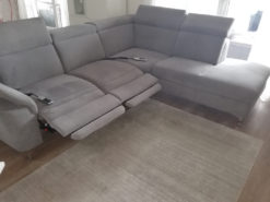 Grey Corner Couch, Eletrically Adjustable, With Remote