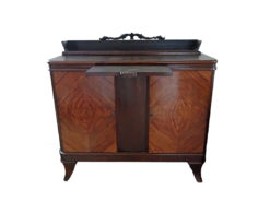 Art Decó Dining Room Commode, 1922, Dark Solid Wood