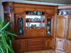 Wall Cabinet, Solid Cherry Wood, Italian Design, Vintage