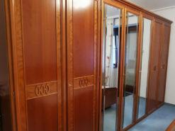 Bedroom Closet, Cherry Wood, Mirrorfront