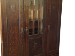 Antique Bookcase, 1922, Made of Solid Wood