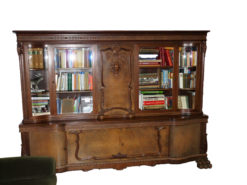 Living Room Furniture Set: Bookcase, Coffee Table And Chairs
