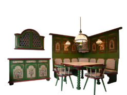 Vintage Dining Room, Green, Country Style
