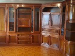 Vintage Designer Wall Unit System, Made Of Solid Wood