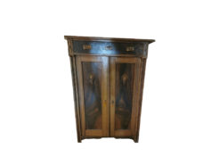 Vintage Commode, Made Of Dark Solid Wood