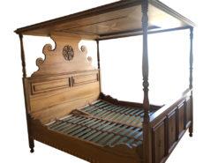 Solid Wood (Walnut/Cherry Wood) Handmade Canopy Bed