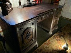 Antique Desk, Made Of Dark Solid Wood
