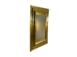 Gold-Coloured Mirror With Two Lamps