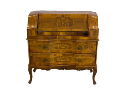 Antique Secretary, Made Of Solid Wood, Inlays