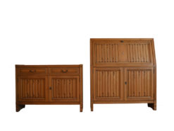 2 Antqiue Commodes, Made Of Solid Wood