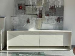 White Designer Sideboard Sunrise Bonaldo