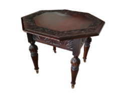Side Table, Biedermeier, Solid Wood, Stained