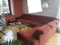 Living Room Set: Corner Sofa With Coffee Table