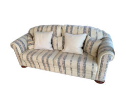 Striped 2-Seater Sofa And Matching Armchair