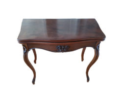 Antique Wooden Table, Foldable Tabletop