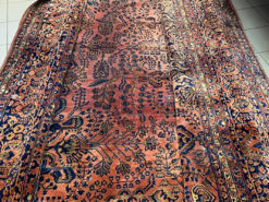 Carpet, Sarugh (US), Antique-Old, Hand-buttoned