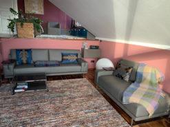 Anthracite Designer Sofa, Recamiere and Stool