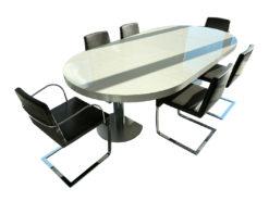 6 Chairs, Bonaldo Jag, Dark Grey, Leather