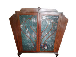 Antique Display Cabinet, Made Of Solid Mahogany Wood