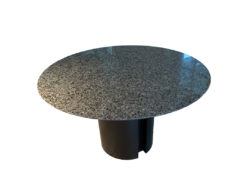 Round Extendable Dining Room Table, Marble and Wood