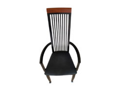 Black Dining Room Chairs, 9 Pieces, TONON