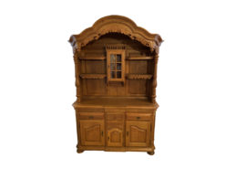 Large Oak Wood Cabinet, Country Style