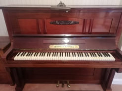 Brown Piano Wilhelm Emmer With Piano Stool