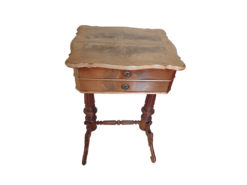 Antique Sewing Table, Solid Wood, Handmade
