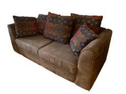 3-Seater-Sofa, Armchair, Imitation Suede