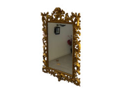 Mirror With 2 Wall Lamps, Vintage