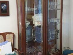 Antique Display Vitrine, Made Of Solid Wood