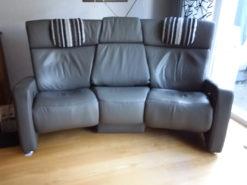 Luxury Designer Sofa, Himolla Trapezoidal Sofa, Grey