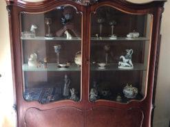 Antique Display Cabinet, Mahogany, Gründerzeit