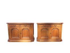 2 Commodes, Solid Wood, Vintage, Country-Style