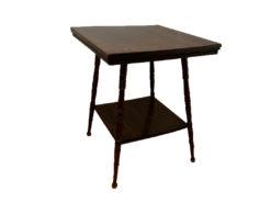 Wood Side Table, Dark Brown
