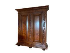 Heavy Antique Bedroom Closet, Dark Solid Wood