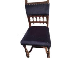 Black and Blue Gründerzeit Chairs