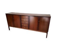 Designer Sideboard, Real Wood Veneer, 1970s, Vintage